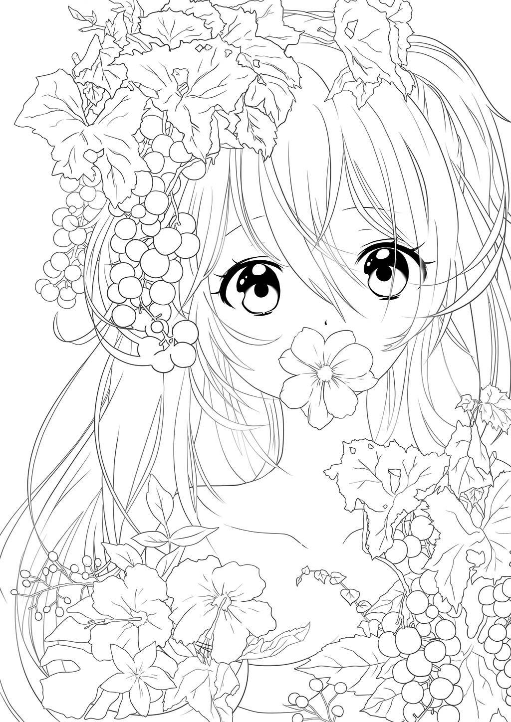Manga studio ex 5 coloring pages ~ 塗り絵 線画 Pixiv - paintschainer